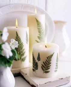 A Leafy Link Diy Dekorierte Kerzen Wie Diese Konnen Teuer