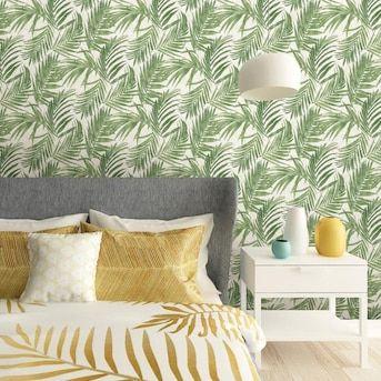 Scott Living 30 75 Sq Ft Green Vinyl Ivy Vines Self Adhesive Peel And Stick Wallpaper Lowes Com Peel And Stick Wallpaper Home Decor Decor