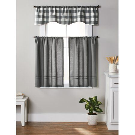 27733bd93020290a7debf2693ed903a3 - Better Homes And Gardens Red Check Swag Valance