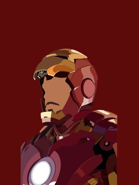 Tony unmasked in iron suit iPhone Case & Cover