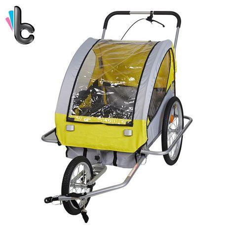 vidaXL Dog Bike Trailer Foldable Lassie Red Bicycle Pet Animals Wagon Carrier