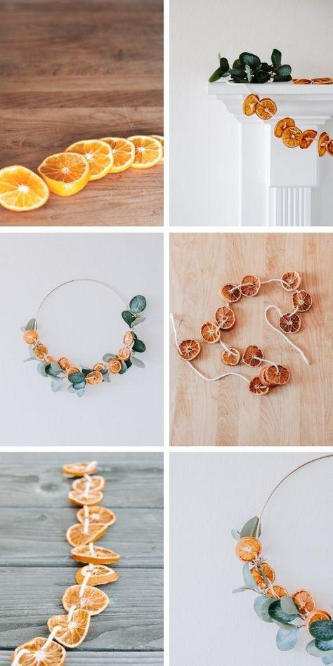 DIY getrocknete orange Girlande. Mache diese hübsche Girlande pünktlich zum Feiertag ...  #diese #getrocknete #girlande #hubsche #mache #orange