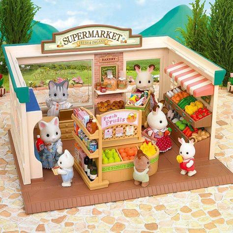 Supermercado Sylvanian Families Casa De Juguete Familias De
