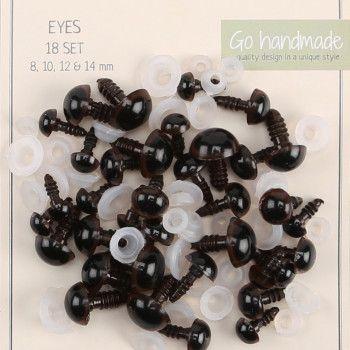 Sikkerhetsoyne Brune Fra Go Handmade Handmade Crochet Teddy Eyes