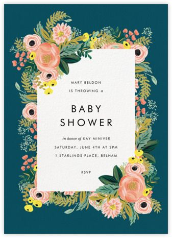 Baby Shower Invitations Online At Paperless Post Baby