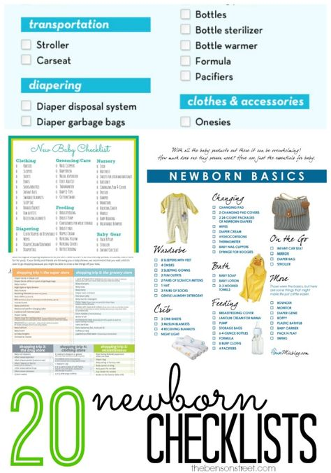 20 Newborn Checklists Baby newborn, Babies and Pregnancy - newborn checklist