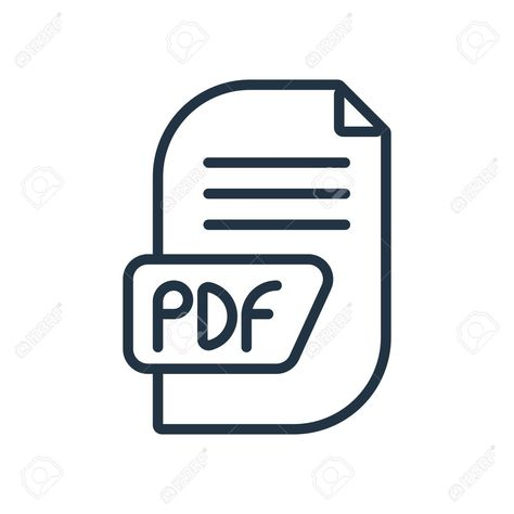 Pdf Icon Vector Isolated On White Background Pdf Transparent Sign