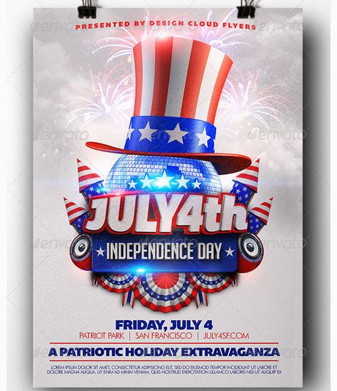 Classic Patriotic Holiday Sale Flyer Template from Inkd - independence day flyer