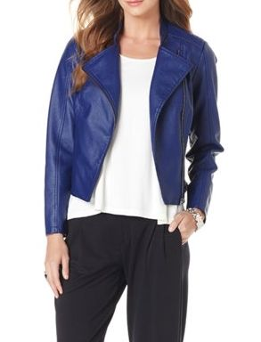 Add a little edge to your spring ensembles with this chic moto jacket! How would you style it?