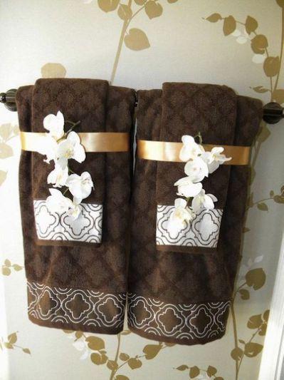 96 Best Images About Decorative Bathroom Towel Decor Bathroom Towels Decorative Towels
