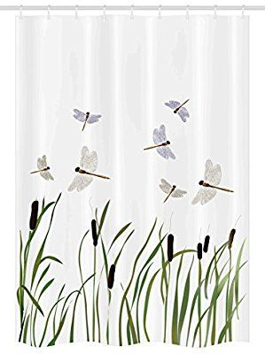 Amazon Com Ambesonne Dragonfly Stall Shower Curtain Flying Small