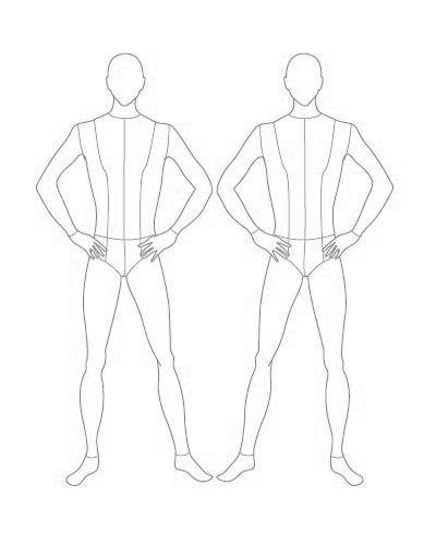 New Fashion Model Sketch Templates Costume Design Ideas