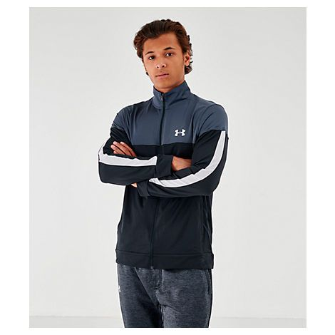 9d20832827 UNDER ARMOUR MEN'S SPORTSTYLE PIQUE FULL-ZIP TRAINING JACKET, WHITE ...