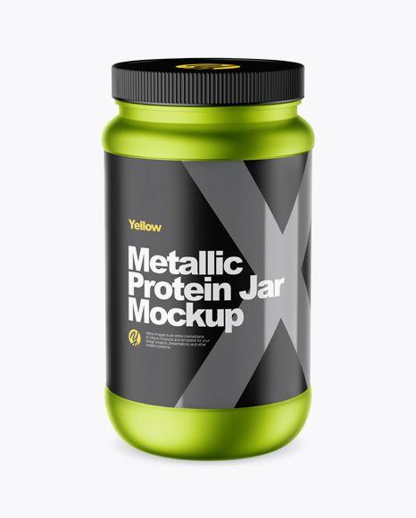 Download Metallic Protein Jar Mockup High Angle Shot In Jar Mockups On Yellow Images Object Mockups Mockup Free Psd Stationery Mockup Business Card Mock Up PSD Mockup Templates
