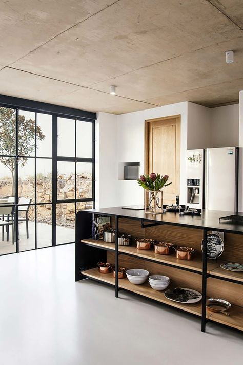 Industrial Style Architect's House created by Nadine Engelbrecht in South Africa using a barn as inspiration