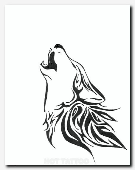 Canvas Hot Tattoo Cat Silhouette Tattoos Tribal Wolf Tattoo Simple Wolf Tattoo