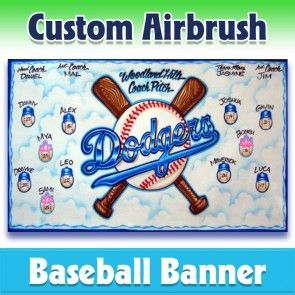 Baseball Banner Dodgers 1009 In 2020 Baseball Banner Team Banner League Banners
