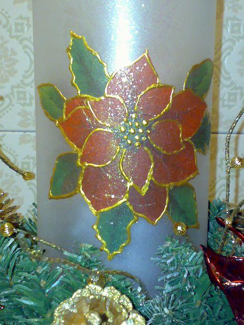Centro Tavolo In Vetro.Centro Tavola Di Natale Particolare Del Porta Candela In Vetro