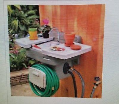 Improvements Outdoor Garden Sink Washing Station With Patio Water Hose Reel Nib Outdoor Garden Sink Garden Sink Water Hose