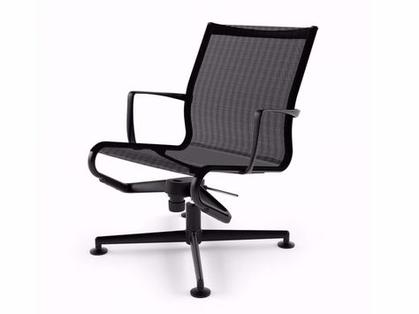 Swivel Task Chair With 4 Spoke Base With Armrests Meetingframe