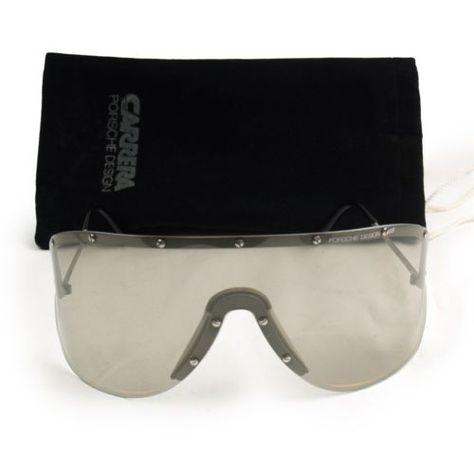 cead86848e07 Vtg Carrera Porsche Design 5620 Sunglasses Yoko Ono Silver Shield Lady Gaga  Gray
