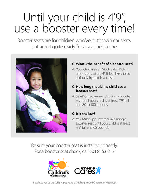 Mississippi Car Seat And Booster Seat Laws