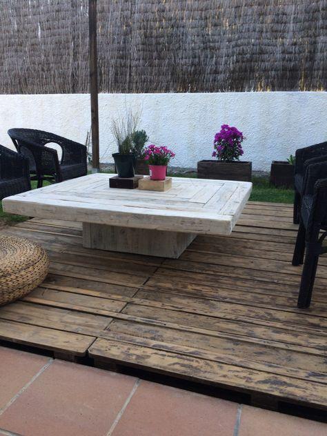 La Mesa De Centro Para Terraza Madera Reciclada Furniture