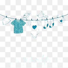 أزرق حبل الغسيل مثلا Blue Illustration Clothes Line