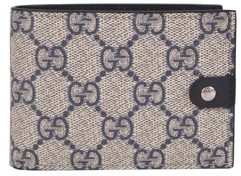 47c4401bf4d5 New Gucci Men's 281968 Blue Supreme Canvas GG Guccissima Mini Bifold Wallet  #Gucci #Bifold