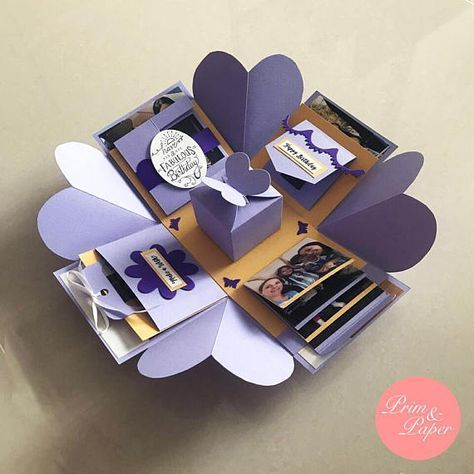 Birthday Explosion Box // Birthday Exploding Box // love