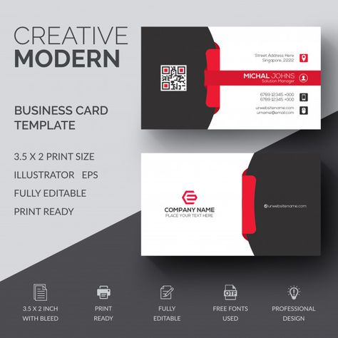 Creative Business Card With Images Printing Business Cards