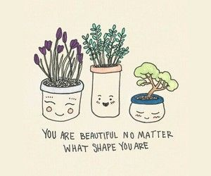 you are beautiful no matter what shape you are.