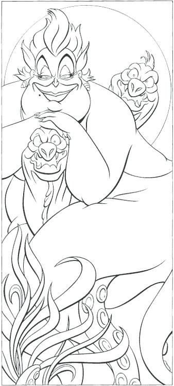 Ursula Coloring Page Pages Free Online Printable Sheets For Kids