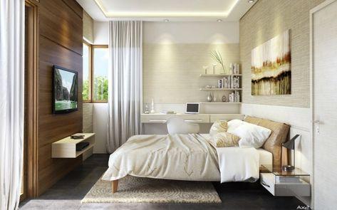 indirekte-beleuchtung-led-kleines-schlafzimmer-wandpaneel LICHT - hotelzimmer design mit indirekter beleuchtung bilder