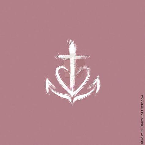 Faith Hope Love symbol from May PL Digital Art https://goo.gl/WcfgYF #symbol #Christian #faith #love #hope