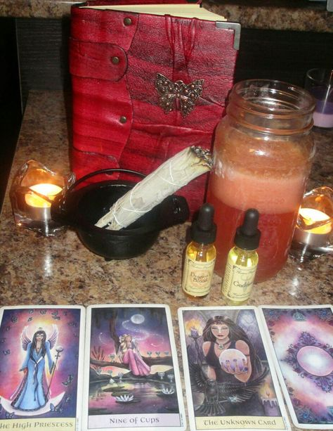 A night of magic and conjure Tarot spells and writing in my grimoire  #grimoire #tarotspells #spellbook #bookofshadows #witch