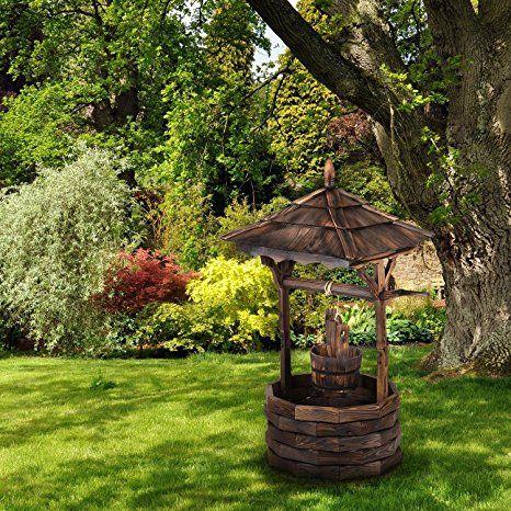 Blumfeldt Loreley Deko Brunnen Garten Dekoration Gartenbrunnen Hohe 135 Cm Material Tannenholz Brandbeh Brunnen Garten Gartenbrunnen Deko Brunnen