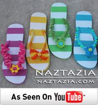 Free Pattern and Video by Naztazia Crochet Flip Flops Sandals Shoes with Ruffle Pom Pom Fur Eyelash Yarn and Beads