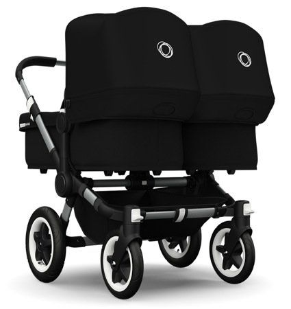 Bugaboo 2015 Donkey Twin Stroller Complete Set in Aluminum and Black Bugaboo Strollers