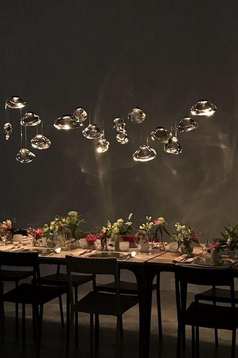 ochre, medusa bloom suspension, light, lighting design, luminaire, chandelier, lustre, handmade, fait main, made in the UK