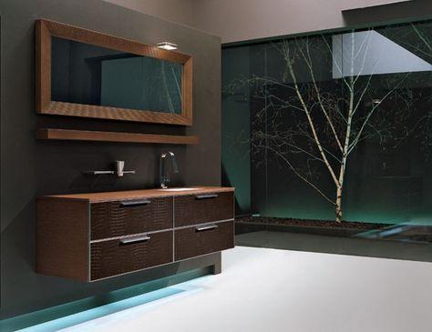 Parfait Rea Edone Crio Vanity REA104M Modular Italian Bathroom Vanity In Oak