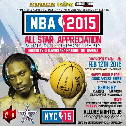 The NBA All Star 2015 Appreciation Media Suite Afterwork Networking Party @Allure Thursday February 12, 2015 « Bomb Parties – Club Events and Parties – NYC Nightlife Promotions