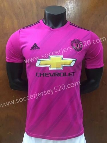 2018 19 Manchester United Away Purple Thailand Soccer Jersey Aaa Club Shirts Soccer Jersey Later Shirt
