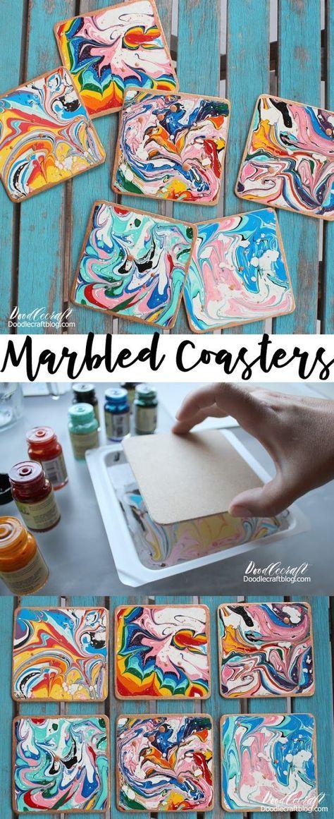 Marbled Copper Coasters DIY!