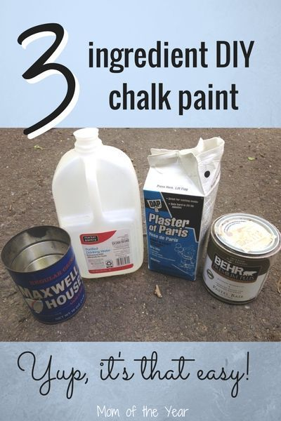 Make Your Own Chalk Paint And Use It The Easy Way The Mom Of The Year Pintura Tiza Diy Hacer Pintura De Tiza Pintura A La Tiza
