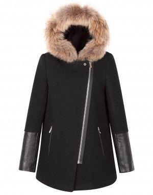 Mielleuse Navy Coat by Sandro. I WANT this jacket. It's super cute ...