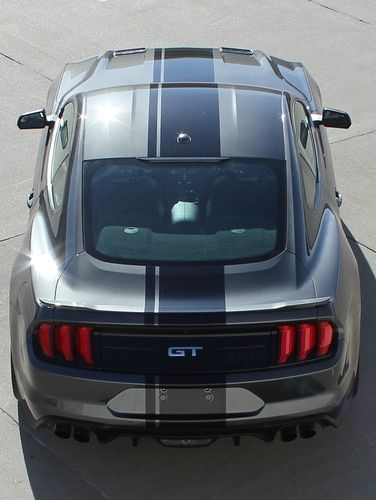 Matte Black 2015 2016 MUSTANG Graphics Kit Custom Stripe Kit Cowl Hood Stripe