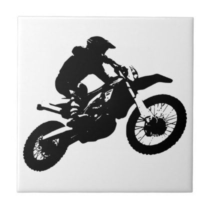 Black White Pop Art Motocross Motorcyle Sport Tile Office Decor Custom Cyo Diy Creative With Images Dorm Gifts Pop Art College Dorm Gifts