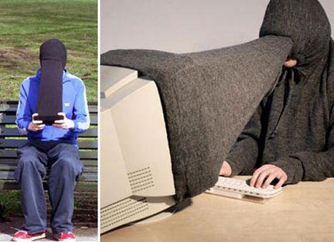 This privacy hoodie.   15 Ridiculous Gifts You Didn't Know You Wanted Until Now