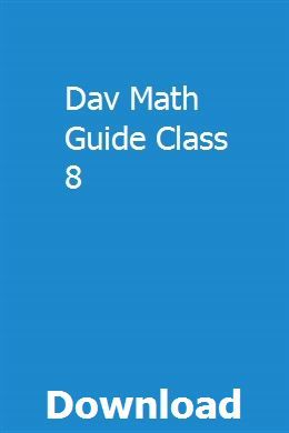 Dav Math Guide Class 8 | storacmairib | Math notes, Guided